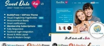 Sweet Date – More than a WordPress Dating Theme