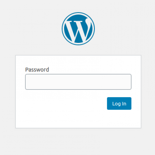 protected password wordpress site